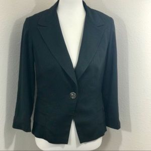 CAbi Bossy Ruffle Charcoal Career Jacket Blazer 6